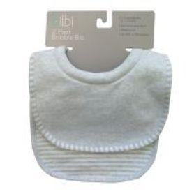 Bilbi Dribble Bib - Melange Blue - 2 Pack