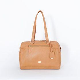 Vanchi Nappy Bag Steffi Carryall Camel