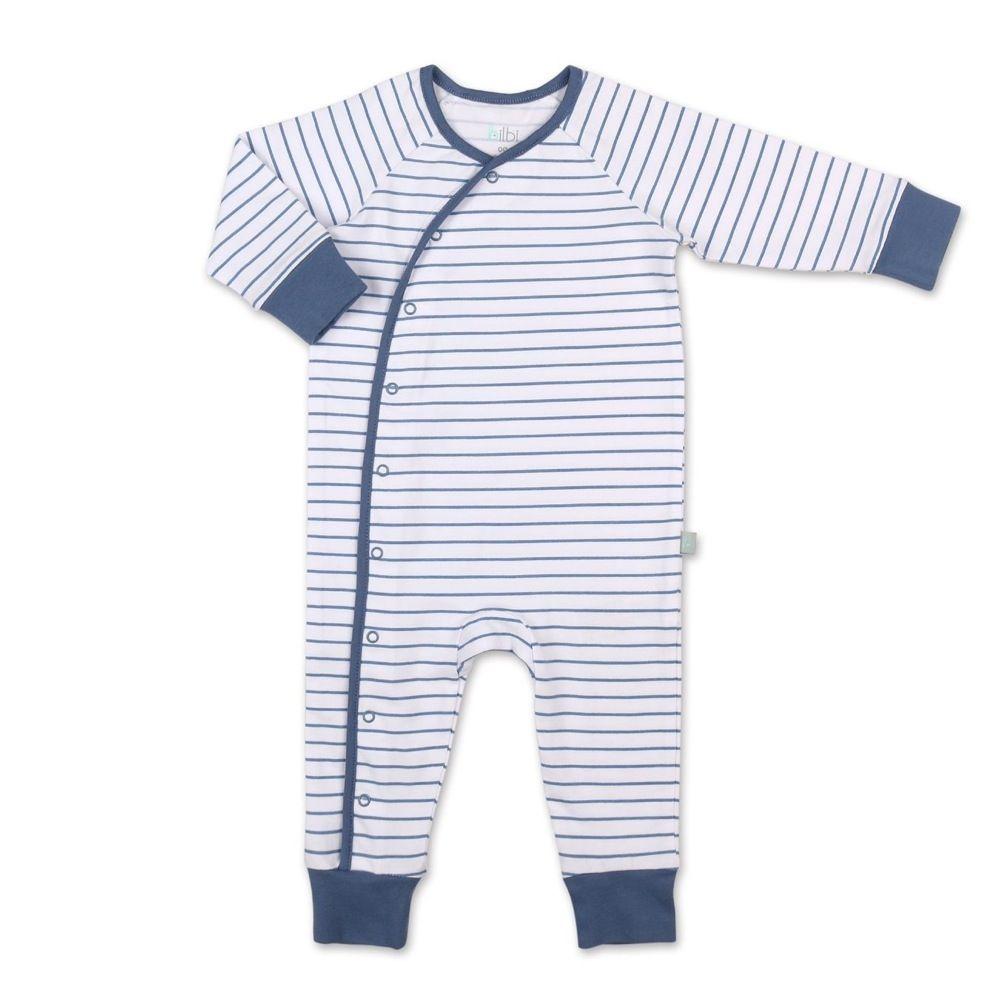 Bilbi Stripe Kimono Romper Navy/White image 0