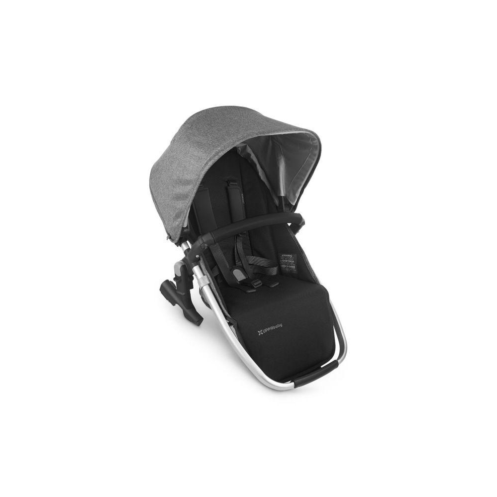 Uppababy Rumble Seat V2 - Charcoal Melange / Silver / Black Leather (Jordan)
