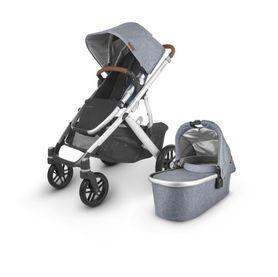 Uppababy Vista V2 Stroller Blue Melange / Silver / Saddle Leather (Gregory)