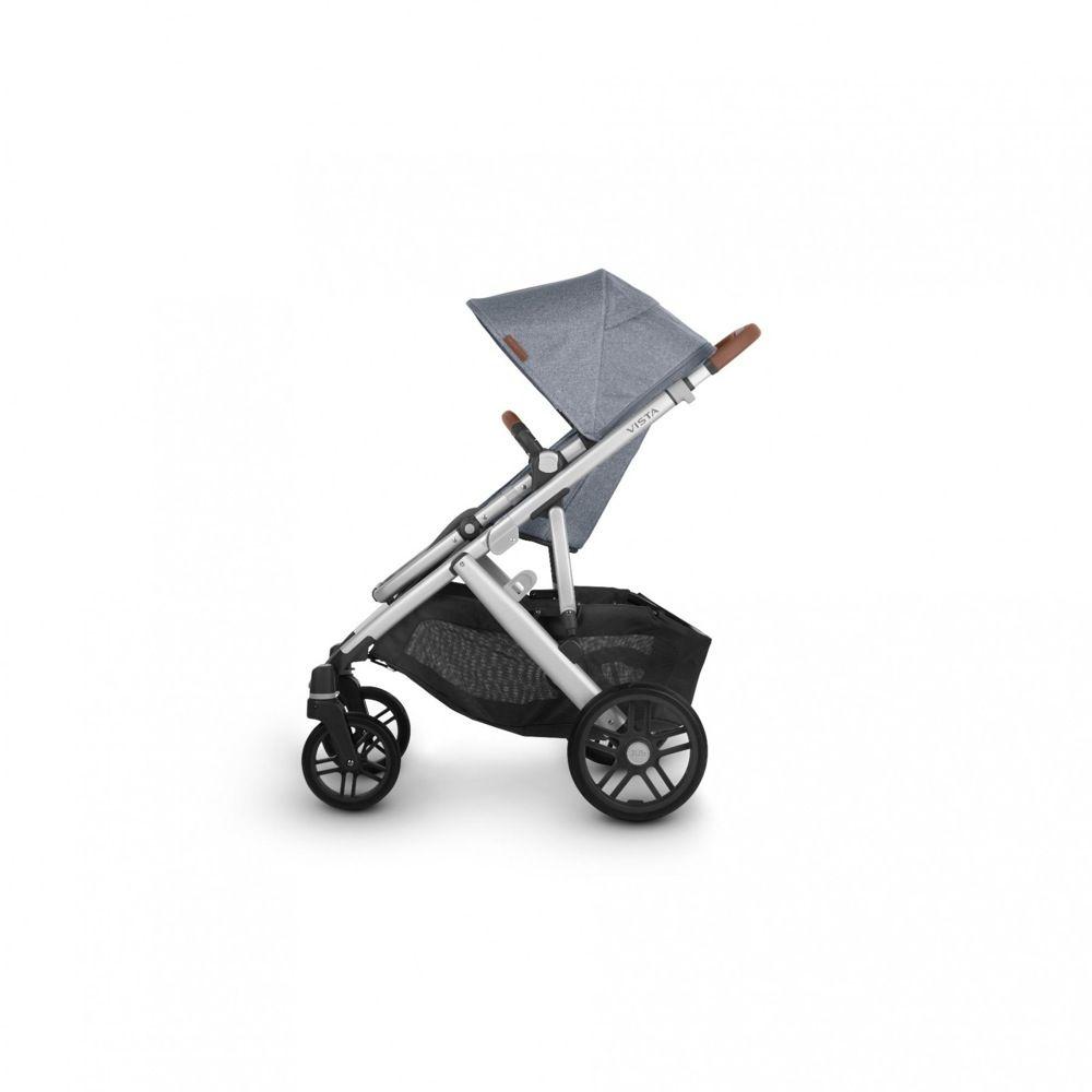 Uppababy Vista V2 Stroller Blue Melange / Silver / Saddle Leather (Gregory) image 4