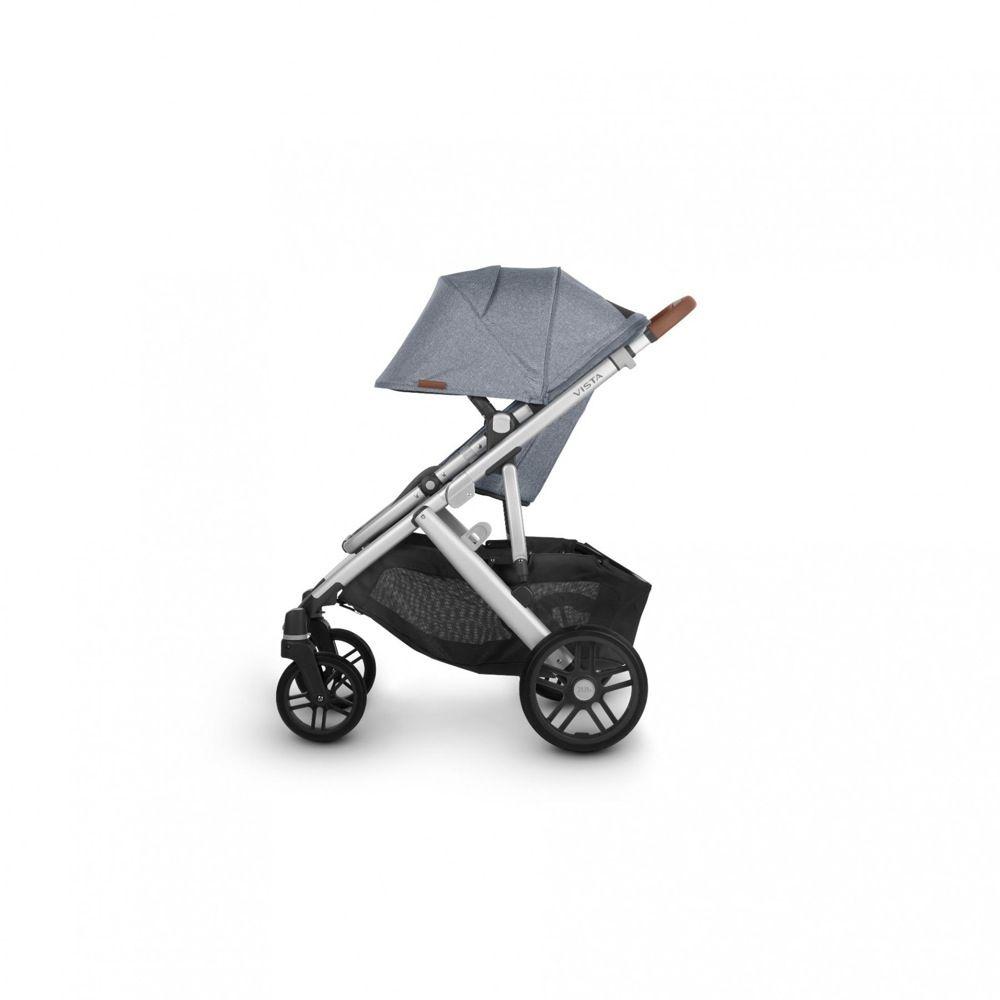 Uppababy Vista V2 Stroller Blue Melange / Silver / Saddle Leather (Gregory) image 5