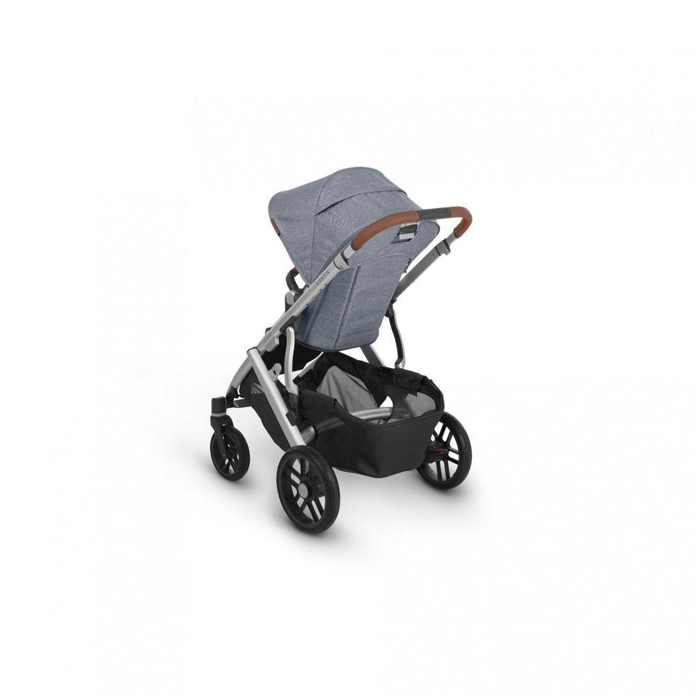 Uppababy Vista V2 Stroller Blue Melange / Silver / Saddle Leather (Gregory) image 6