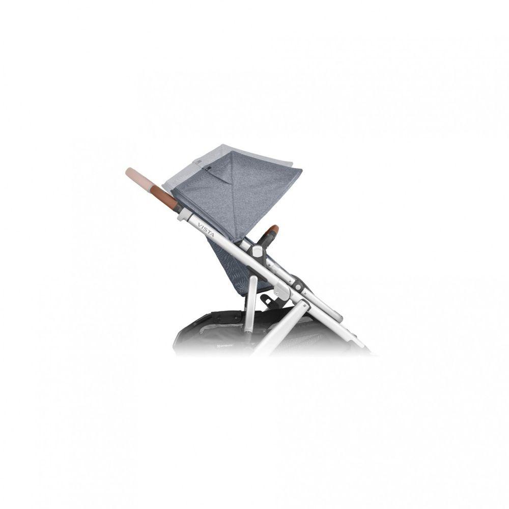 Uppababy Vista V2 Stroller Blue Melange / Silver / Saddle Leather (Gregory) image 7