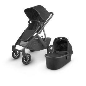 Uppababy Vista V2 Stroller Black / Carbon / Black Leather (Jake)