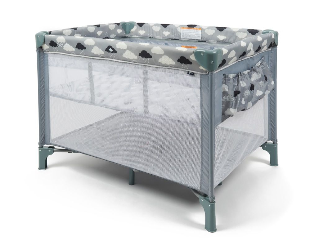 4Baby Clouds 2 In 1 Portable Cot image 1
