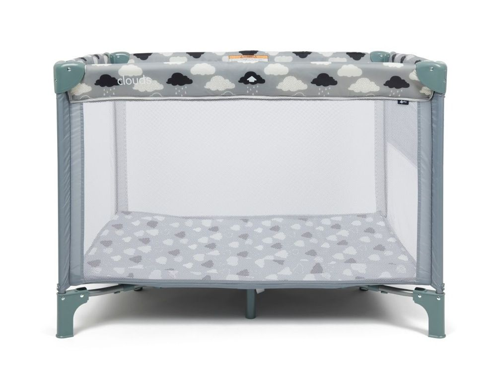 4Baby Clouds 2 In 1 Portable Cot image 2