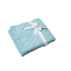 Bilbi Chambray Pram Comforter Aqua