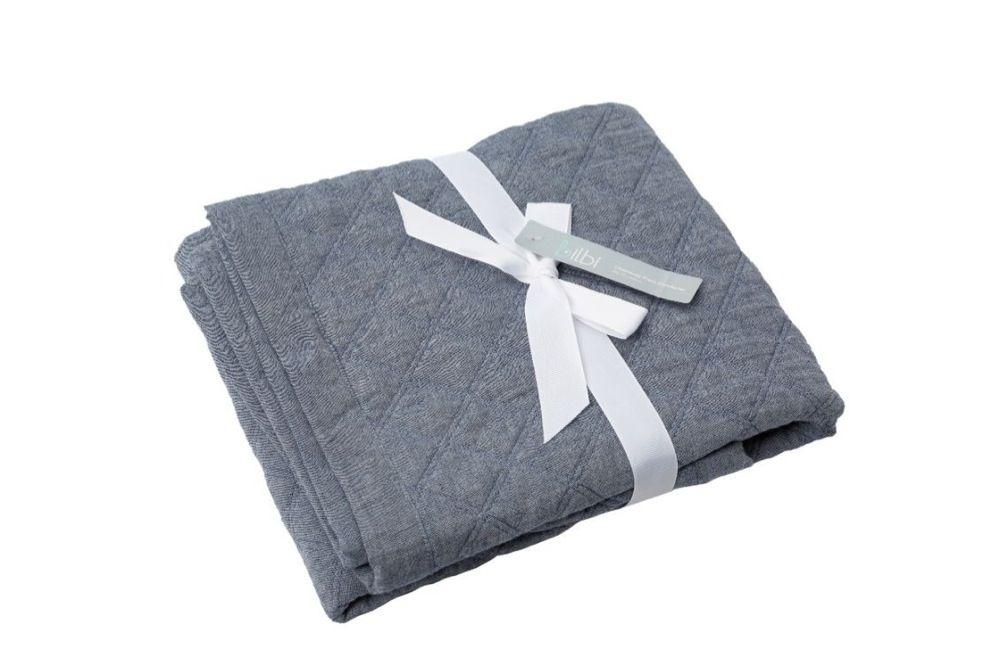 Bilbi Chambray Pram Comforter Denim