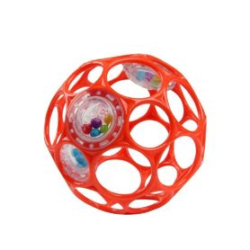 Oball Rattle Easy-Grasp Ball - Red