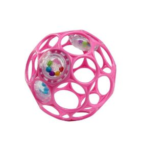 Oball Rattle Easy-Grasp Ball - Pink