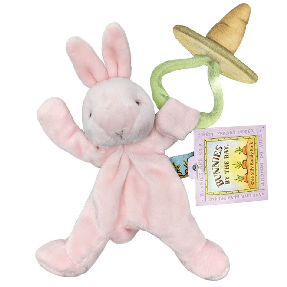 Bunnies By The Bay Wee SIlly Buddy Soother Holder Bunny - Pink image 0