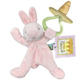 Bunnies By The Bay Wee SIlly Buddy Soother Holder Bunny - Pink