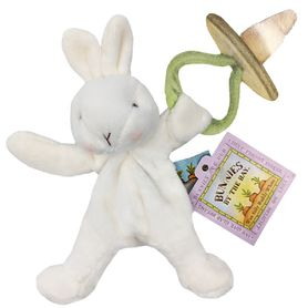 Bunnies By The Bay Wee Silly Buddy Soother Holder Bunny - White