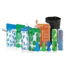 Cherub Baby Solids Feeding Kit - Toucan Blue & Rainforest Green