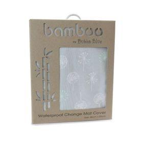 Bubba Blue Mint Meadow Jersey Waterproof Change Pad Cover
