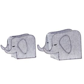 Bilbi Felt Baskets Elephant Grey 2 Piece