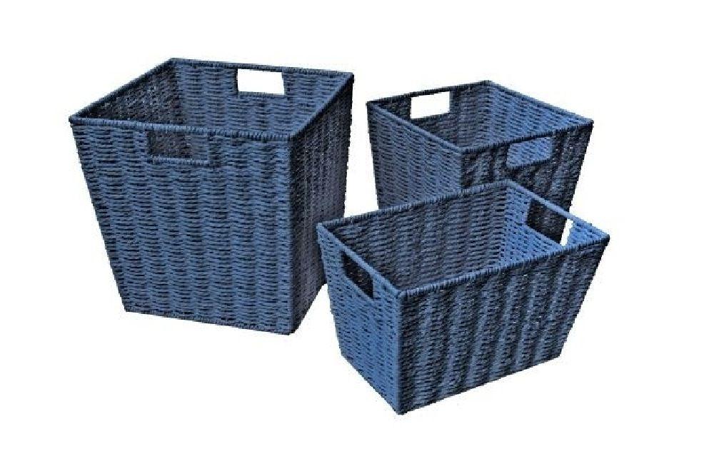 4Baby Paper Rope Cube Basket Navy Large image 0