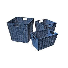 4Baby Paper Rope Cube Basket Navy Large