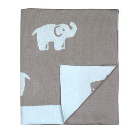 Weegoamigo Hola Knit Blanket Elliot Elephant