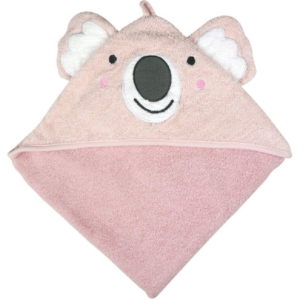 Weegoamigo Colourplay Hooded Towel Pink Koala
