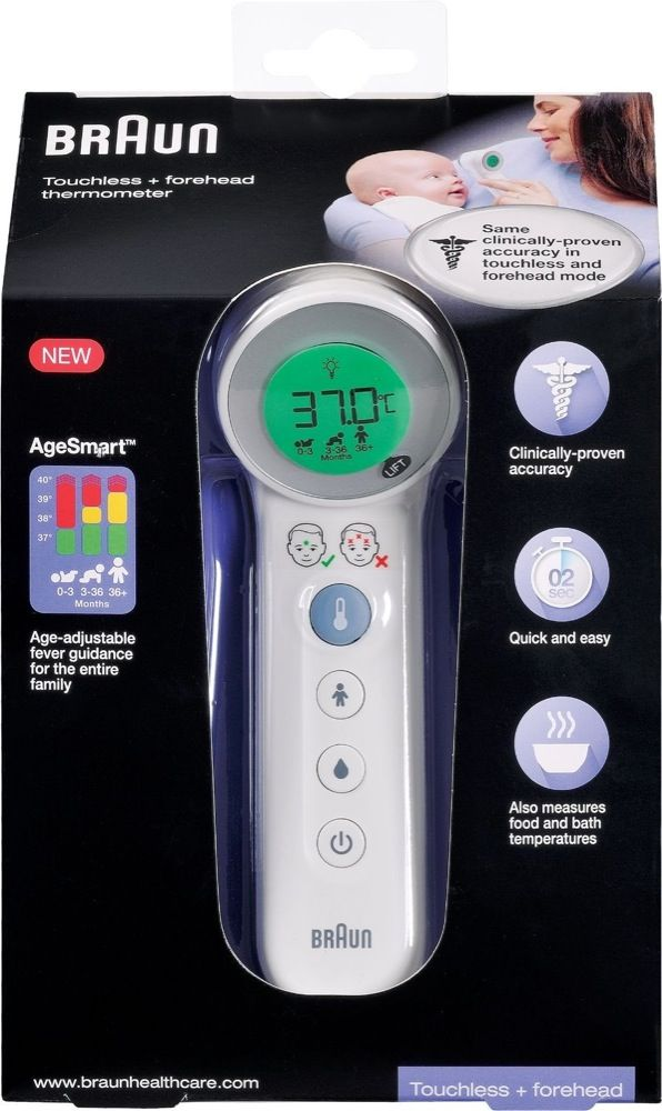 Braun Thermometer Touchless & Forehead BNT4