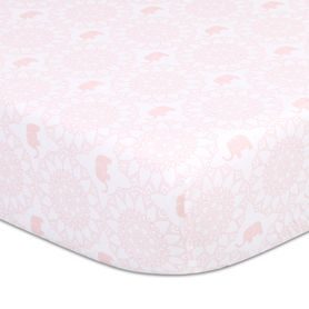 The Peanut Shell Sweet Peanut Cot Fitted Sheet Circle