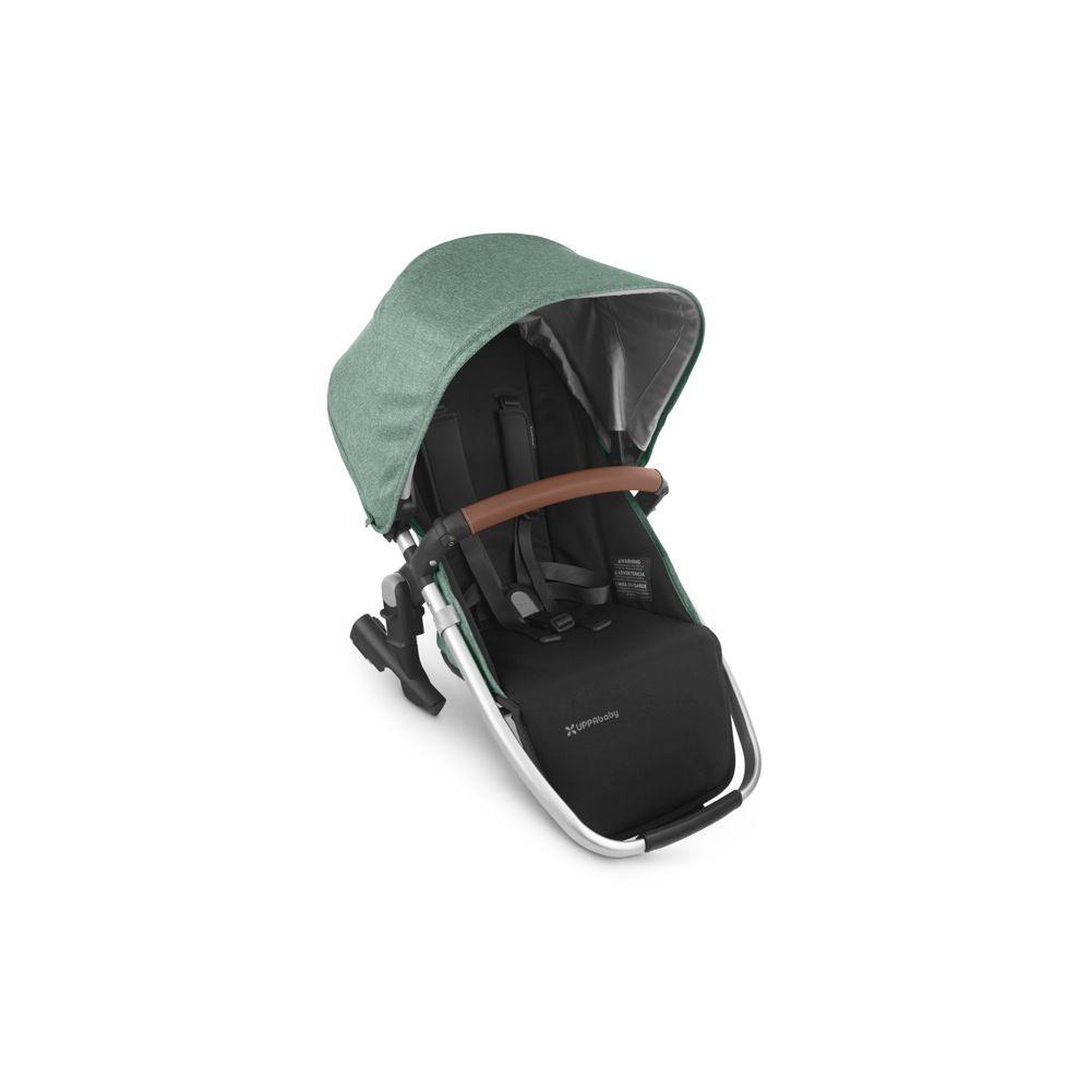 Uppababy Vista V2 Rumble Seat Green Melange/Silver Saddle Leather - Emmett