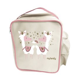 My Family Easy Clean Bento Cooler Bag - Llama