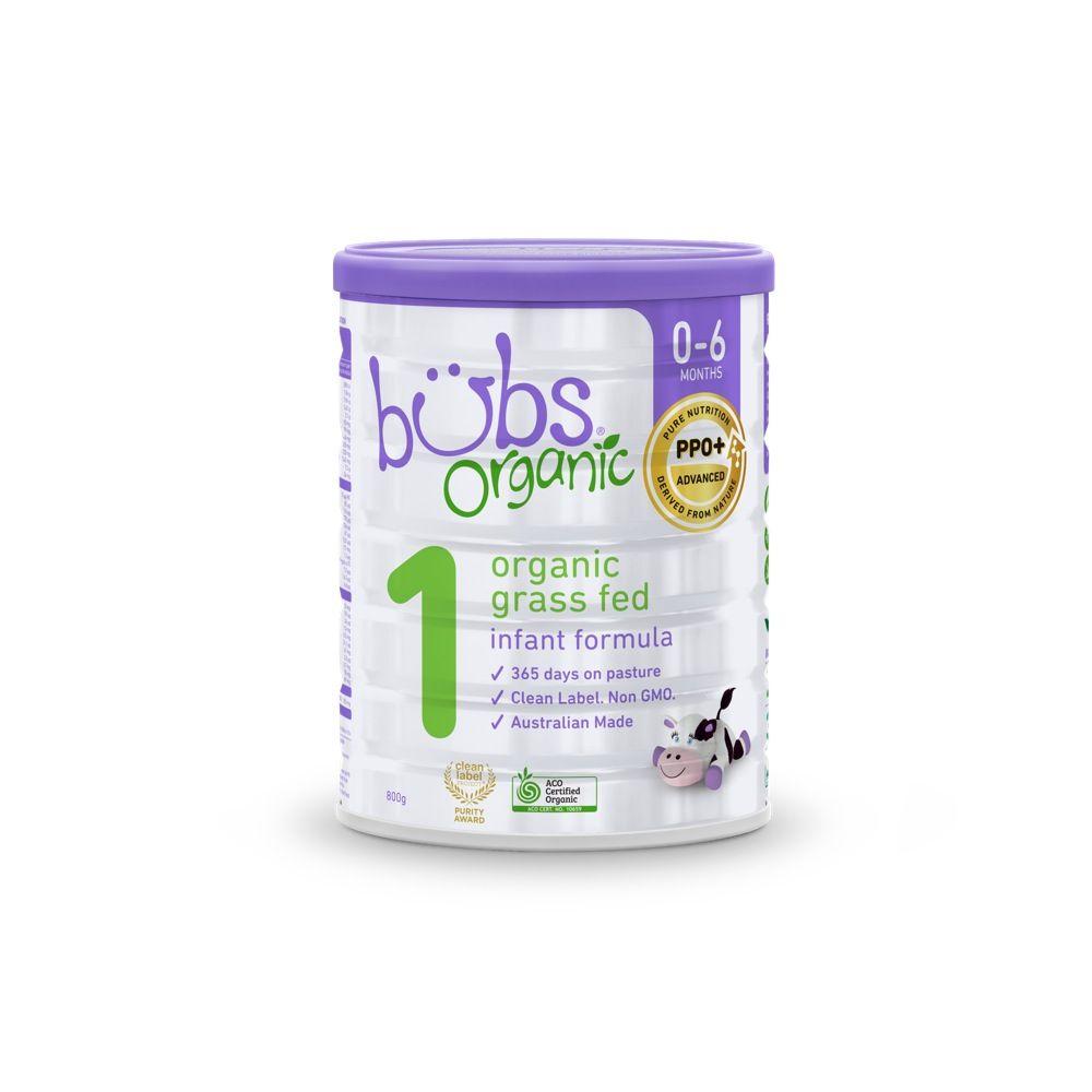 Bubs Formula Organic Grass Fed Infant 800G