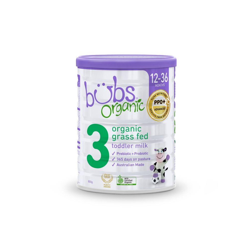 Bubs Formula Organic Grass Fed Toddler Milk 800G