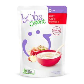 Bubs Organic Baby Apple Porridge - 125g