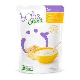 Bubs Organic Baby Banana Rice Cereal -125g