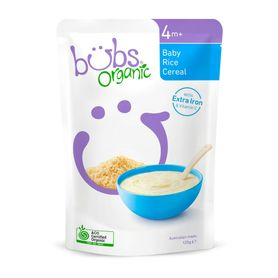 Bubs Organic Baby Rice Cereal - 125g