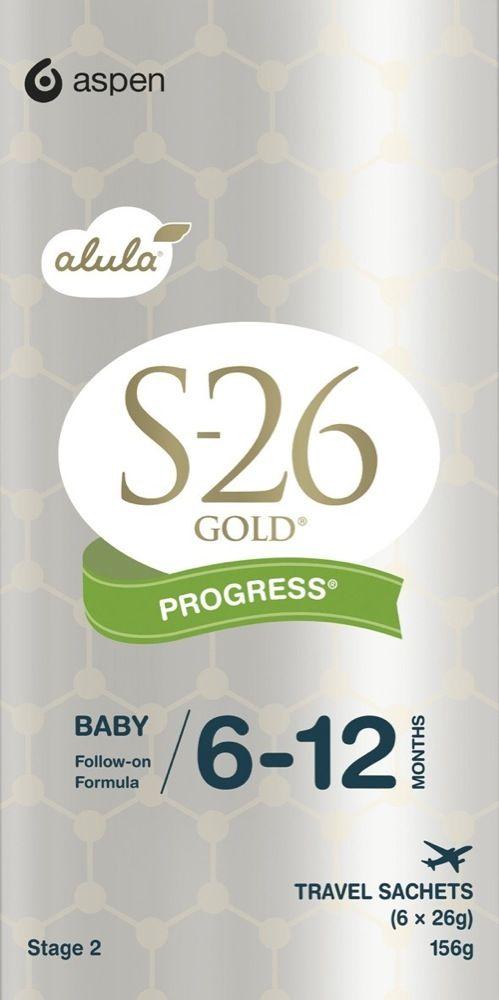 S-26 Gold Alula Formula Progress 6-12months Stickpack 6 x 26g image 0