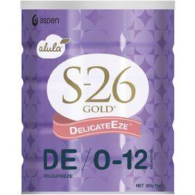 S-26 Gold Alula Formula Delicate Eze 0-12months 850g