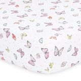 The Peanut Shell Whisper Butterfly Cot Fitted Sheet Butterfly image 0
