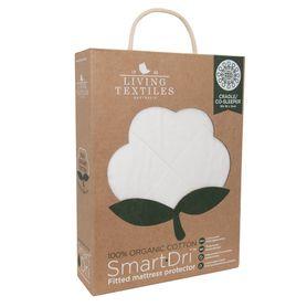 Living Textiles Smart-Dri Organic Mattress Protector Cradle White