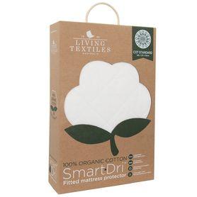 Living Textiles Smart-Dri Organic Mattress Protector Cot Standard White