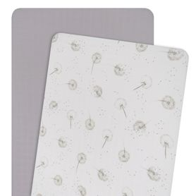 Living Textiles Organic Cradle Fitted Sheet Dandelion 2 Pack (Online Only)