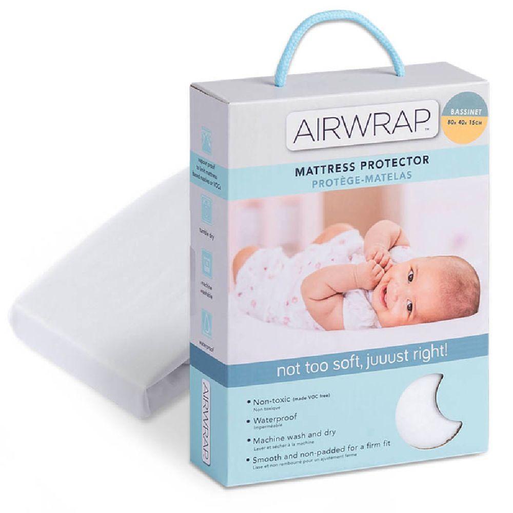 Airwrap Mattress Protector Bassinet White