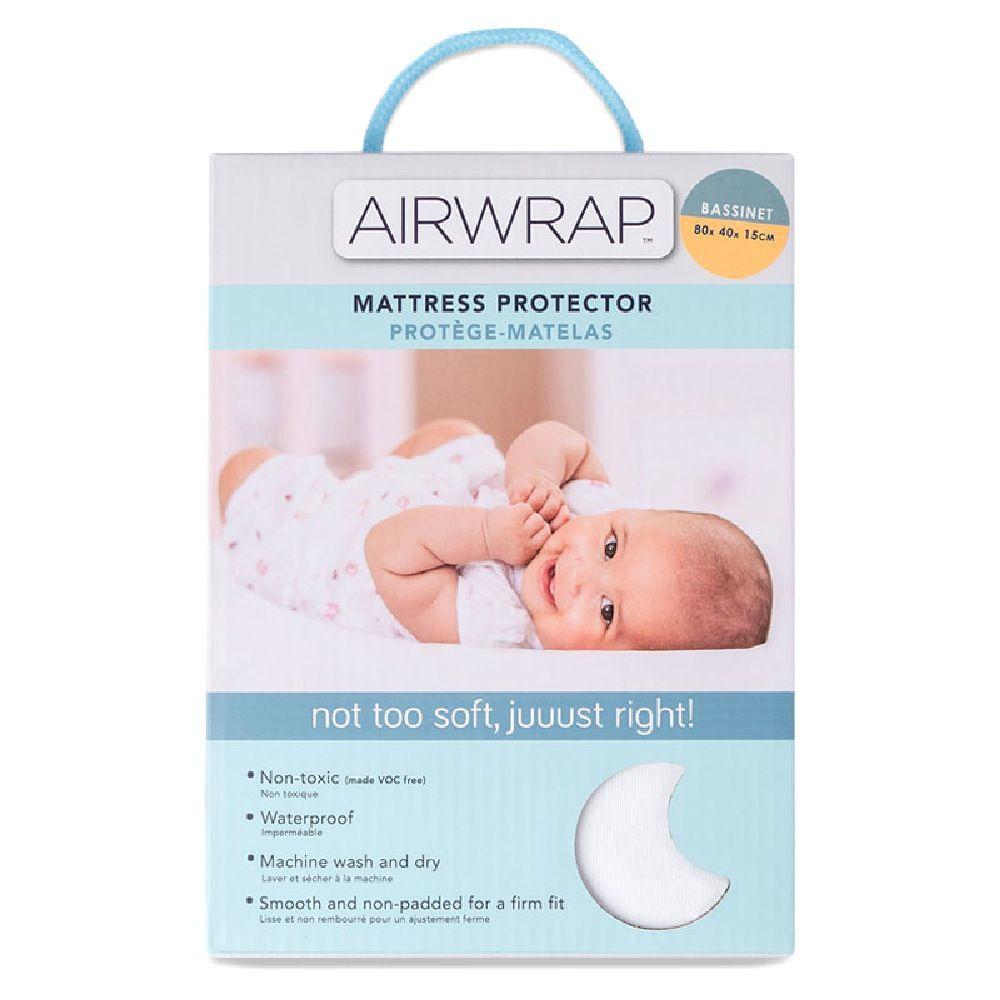 Airwrap Mattress Protector Bassinet White image 1