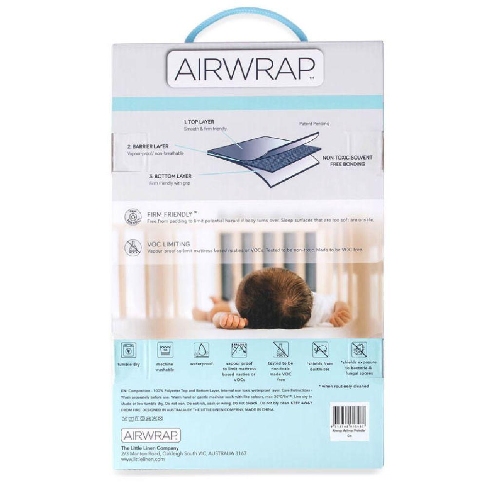 Airwrap Mattress Protector Bassinet White image 2