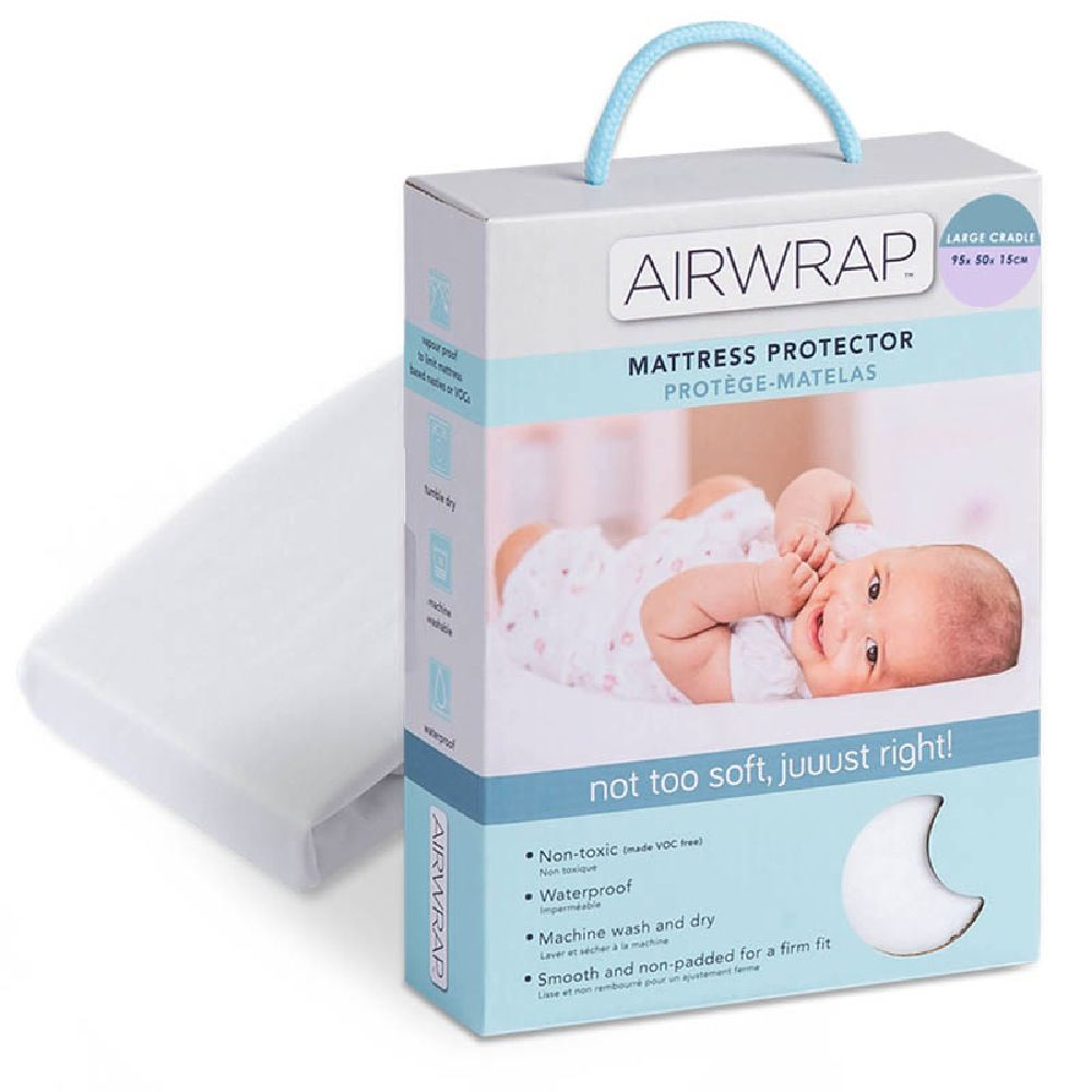 Airwrap Mattress Protector Cradle Large White