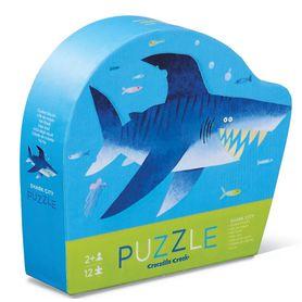 Crocodile Creek 12 Piece Mini Puzzle Shark City