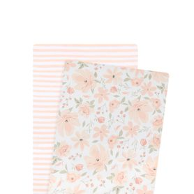 Lolli Living Meadow Bass Fitted Sheet 2 Pack Blush