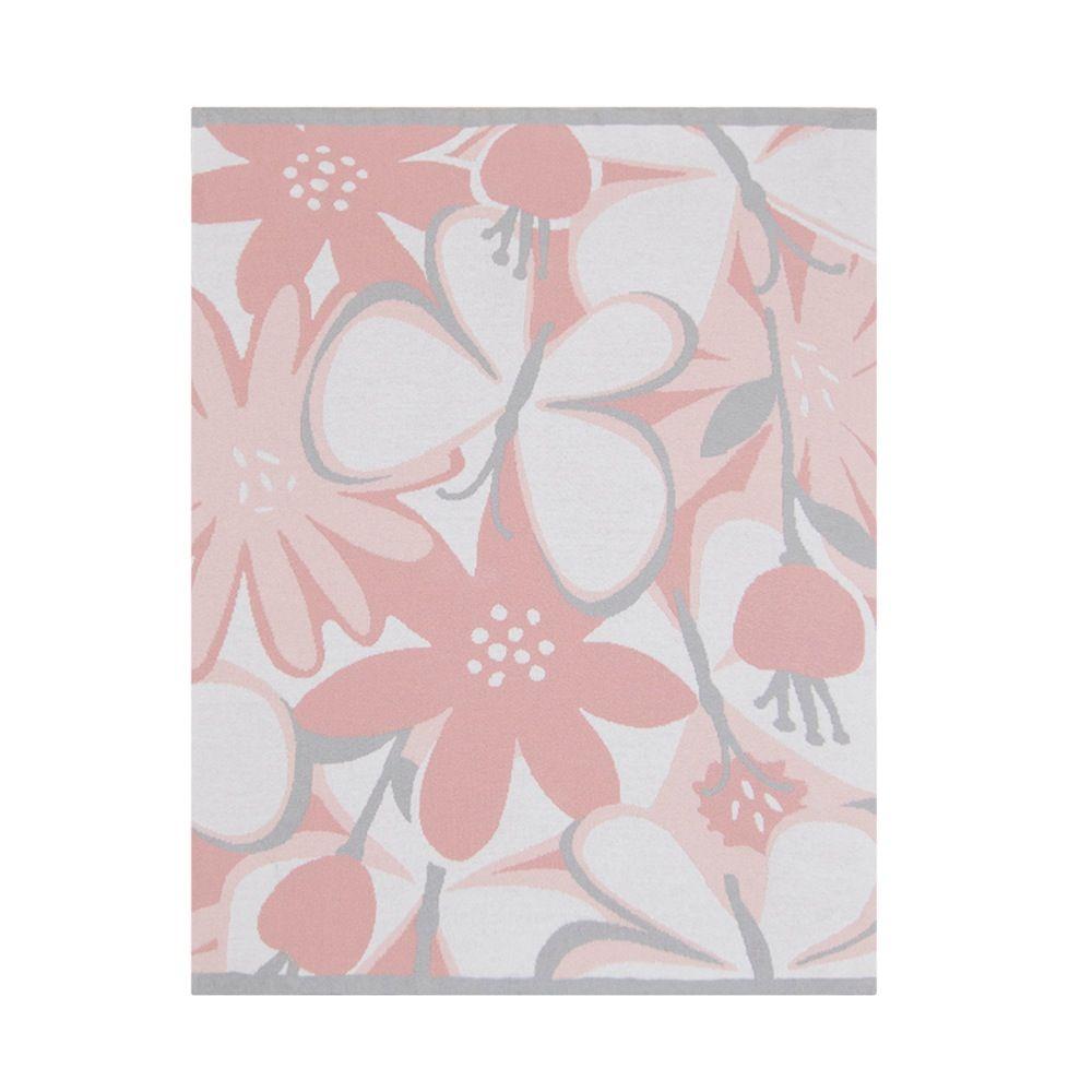 Lolli Living Meadow Pram Knit Blanket Blush