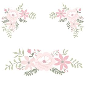 Lolli Living Meadow Wall Decal Set Floral Blush