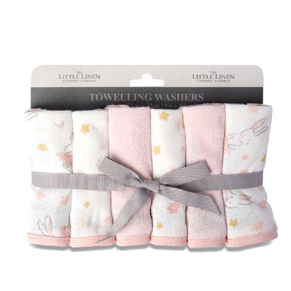 The Little Linen Co Wash Cloth Ballerina Bunny 6 Pack